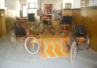 JSC wheelchairs with special design which  are more suitable for the rural areas.