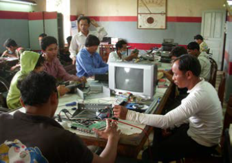 Electronic class gives skill to persons with disabilities for their futures.