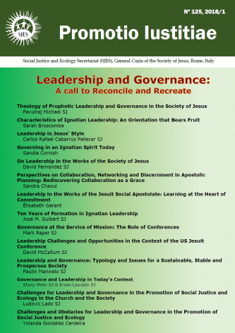 """The New Promotio Iustitiae (No  125) """"Leadership and Governance"""